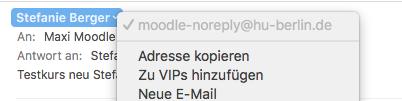 Absender-Name (persönlich) und Absender-Adresse (Moodle) von Moodle-Mails