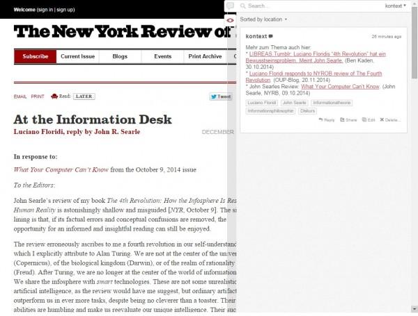 Annotation bei der NYRB