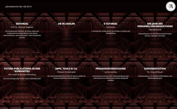 Webpublikation UB Jahresbericht 2014