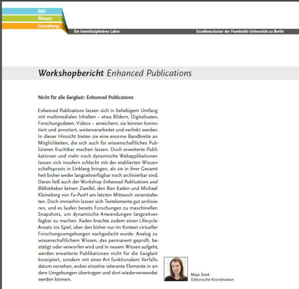 Nichts ist für die Ewigkeit: Enhanced Publications. (Maja Stark in CZ#141, S. 10)