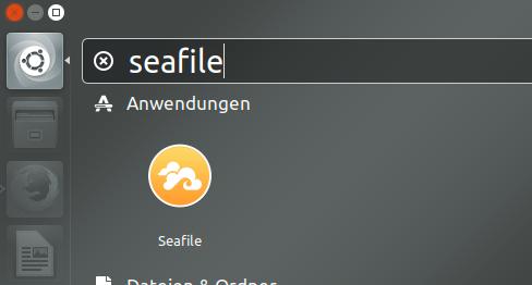 Dashboardsuche nach seafile zeigt seafile-client