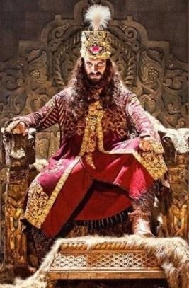 Ranveer Singh as Alauddin Khilji in a poster of Padmavati.
