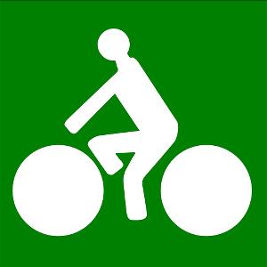 Fahrrad fahren grün