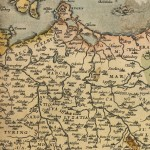 Detail aus der Deutschlandkarte des Ortelius-Atlanten